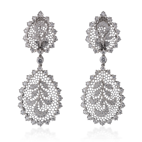 Buccellati - Earrings - Ornato Pendant Earrings with chain - Jewelry